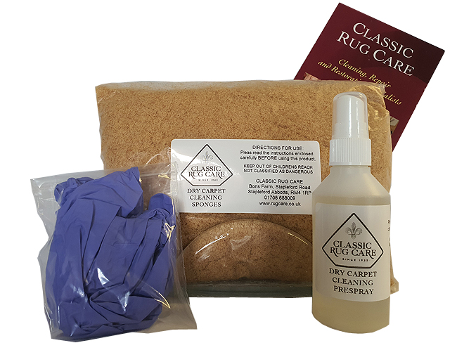 The Dry Carpet Cleaning kit from Classic Rug Care